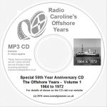 50 Years of Radio Caroline vol 1 mp3 CD