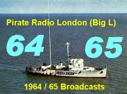Pirate Radio London (Big L) 1964 / 65 Broadcast MP3 CD